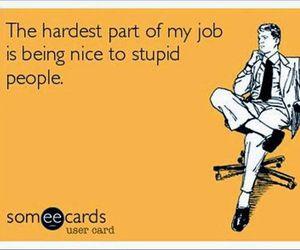 job, stupid, and people image