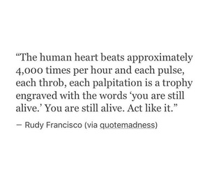 quotes, alive, and heart image