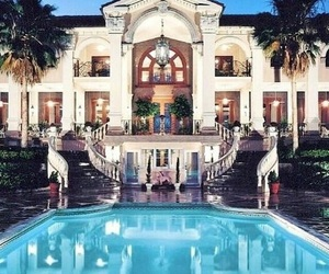 girl, luxury, and mansion image