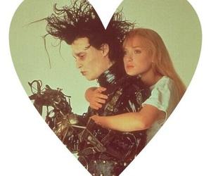 love, johnny depp, and edward scissorhands image