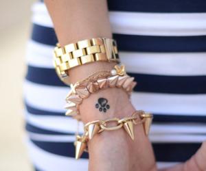 fashion, gold, and bracelet image