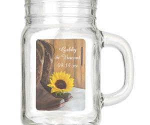 cowboy boots, mason jars, and sunflowers image
