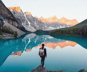 travel, mountains, and lake image