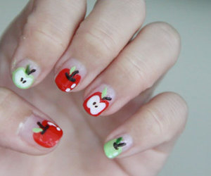 apple, nail art, and bubzbeauty image