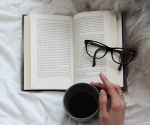 book, coffee, and glasses image