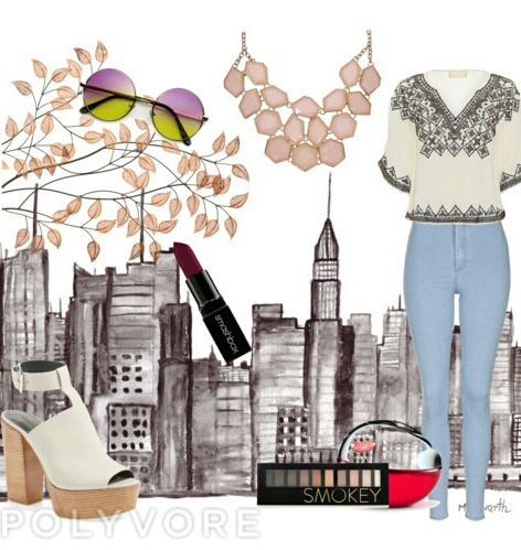 autum, clothes, and make up image