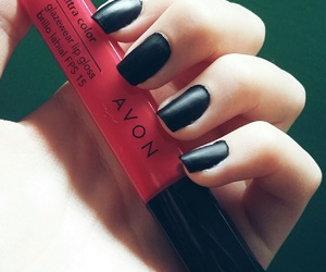 avon, black, and lipstick image