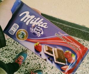 chocolate, strawberries, and strawberry image