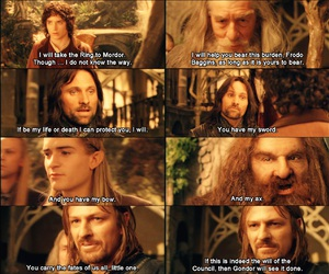 aragorn, fate, and gandalf image