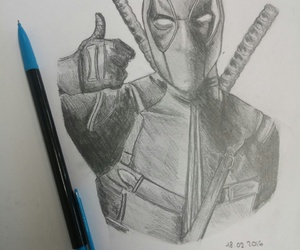 awesome, blood, and deadpool image