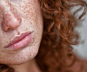 freckles, blue eyes, and redhead image