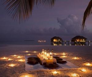beach, romantic, and light image