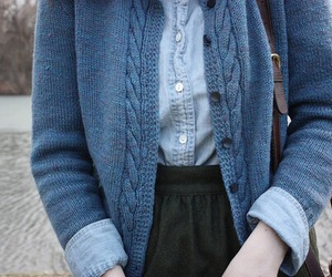 blue, vintage, and sweater image