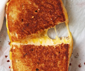 food, cheese, and grilled cheese image