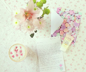 pink, floral, and pastel image