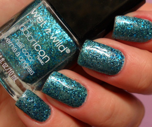 blue, fingers, and glitter image