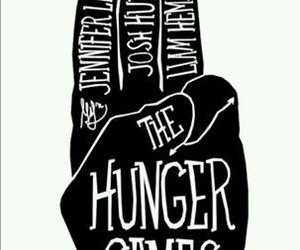 the hunger games, josh hutcherson, and Jennifer Lawrence image