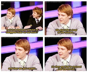 harry potter, funny, and james phelps image