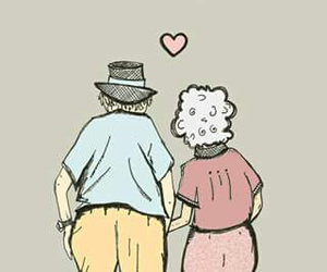some words love grow old image
