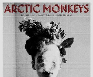 arctic monkeys, smoke, and black and white image