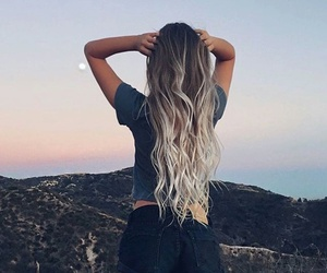beautiful, girl, and ombre hair image