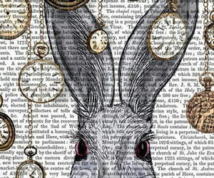 wallpaper, rabbit, and alice in wonderland image