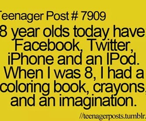 books, iphone, and facebook image