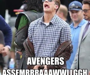 Avengers, funny, and captain america image
