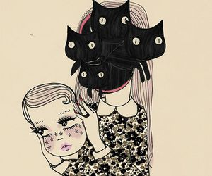 cat, girl, and valfre image