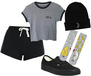 outfit, Polyvore, and pizza image