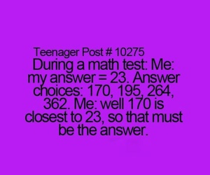 math, school, and teenager post image