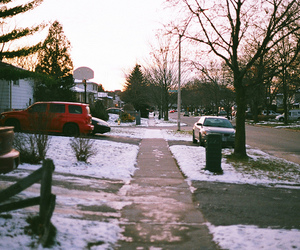 50mm, snow, and suburbia image