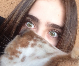 eyes, girl, and cat image