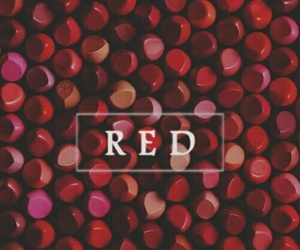 red, wallpaper, and lipstick image