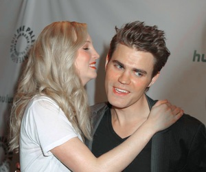 paul wesley, candice accola, and the vampire diaries image