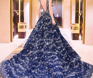 dress, blue, and gown image