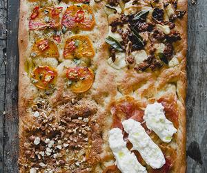 food, savory, and focaccia image