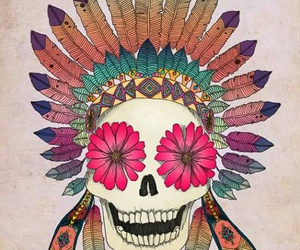 drawing, art, and calavera image