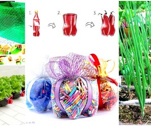 plastic bottles, recycled plastic bottles, and plastic bottle crafts image