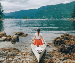 girl, photography, and boat image