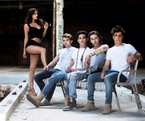 models, photoshoot, and midnight red image
