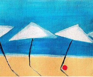 art, beach, and artist image