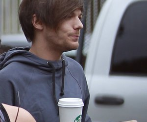 louis tomlinson, one direction, and starbucks image