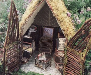 fairy, house, and nature image