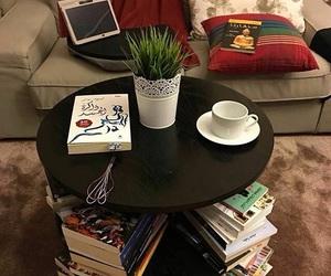 books, coffee, and nice image
