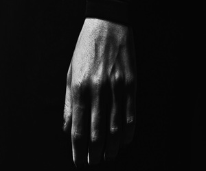 hand and black and white image