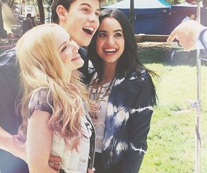 shawn mendes, dove cameron, and sofía carson image