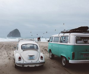 beach, car, and travel image
