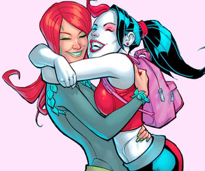 harley quinn, poison ivy, and comics image