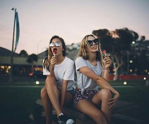 girls, happy, and friends image